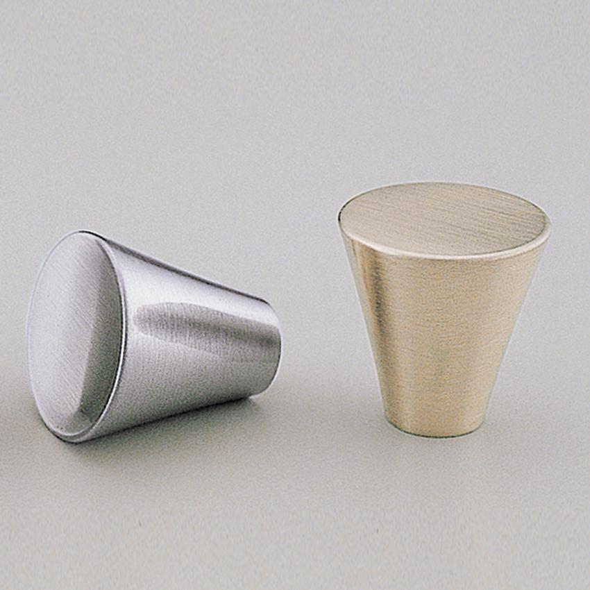 BK80 Brushed Nickel & polished Chrome Cone Knob