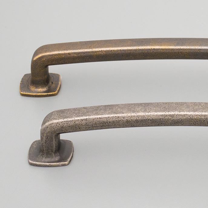 Rustic Brass & Antique Pewter Birhcfield Hampton Handles HT589