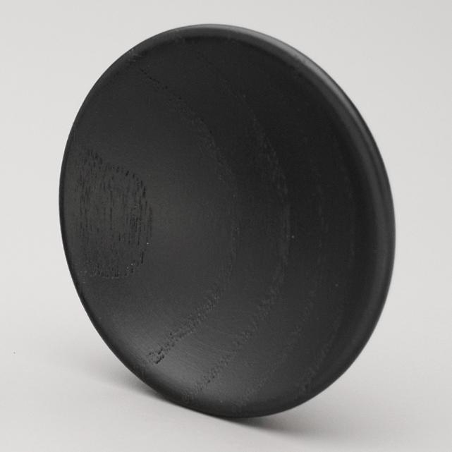 L4328 Black Stain Timber Bowl Knob
