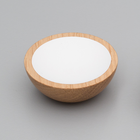 L4406 Wok Knob Oak & White Timber
