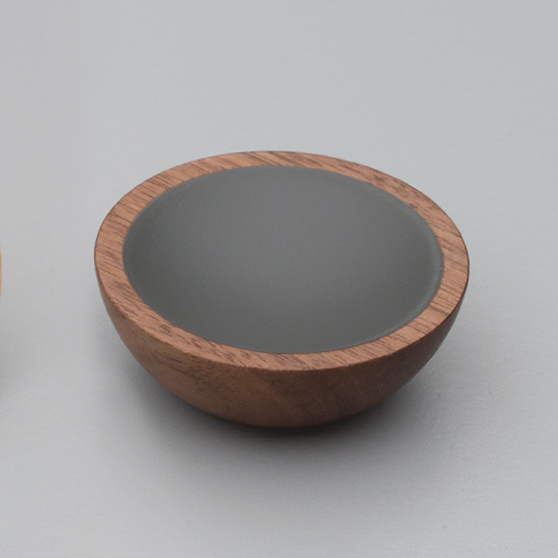 L4406 Wok Knob Timber Walnut & Grey
