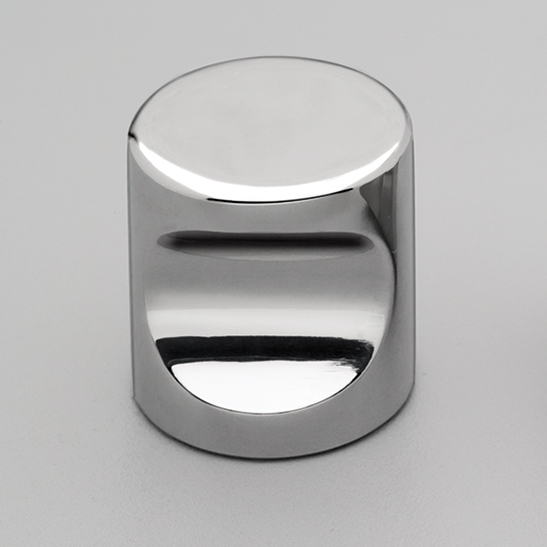 S310 Cylinder Knob Polished Stainless Steel
