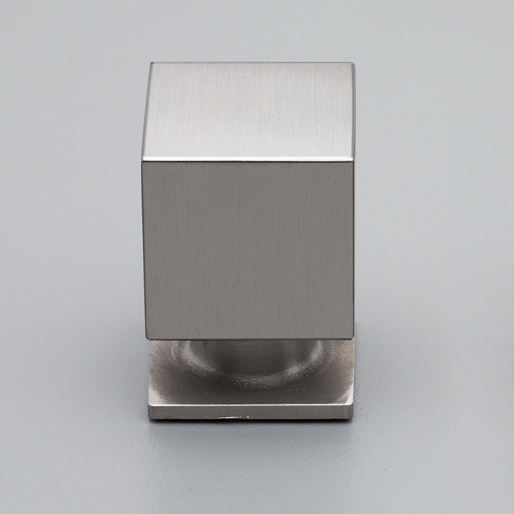 S319 Satin Stainless Steel Cube Knob