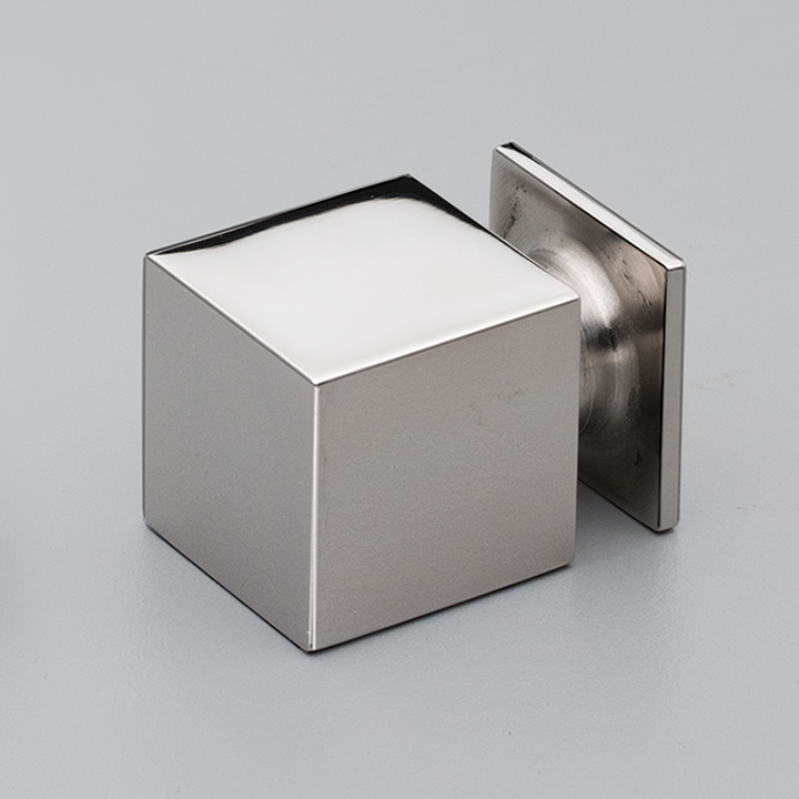 S319 Cube Knob Polished Stainless Steel