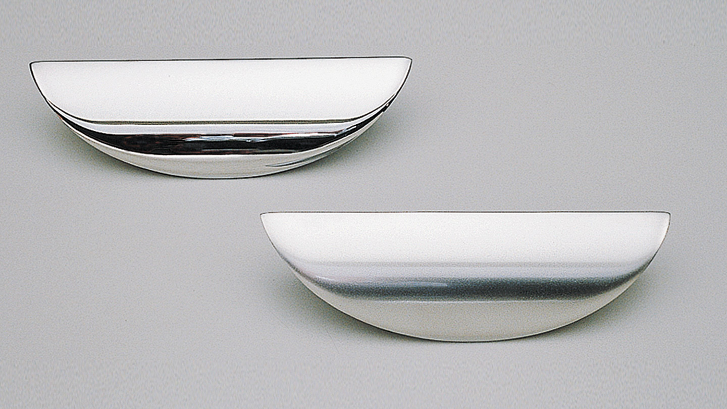 Shell Handle 100mm Satin Chrome