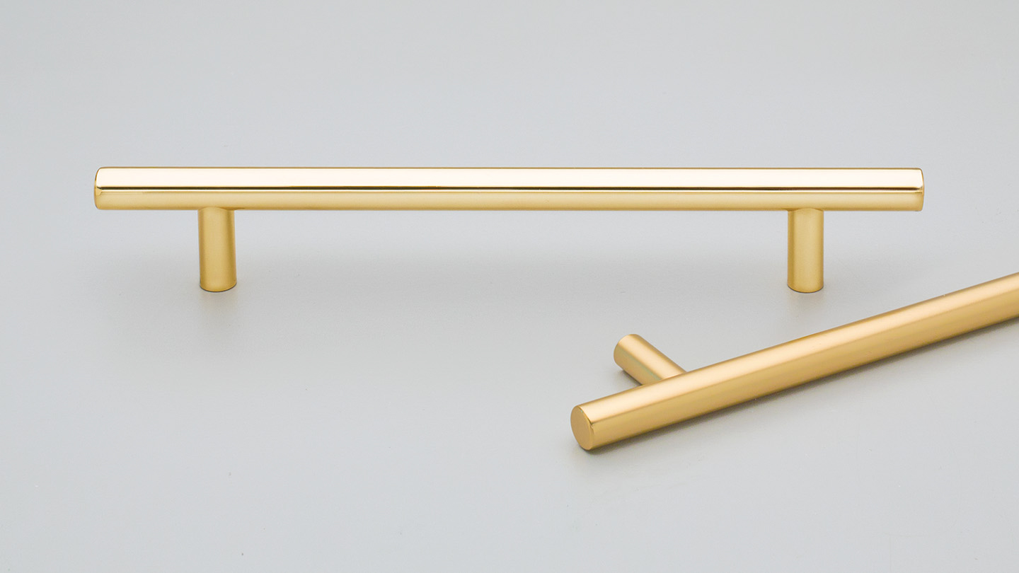 BH157 brass rail handle for  kitchen handle, cabinet handle, bathroom handle, kitchen hardware.colours Polished Brass Gloss Lacquer (GLOSS),Polished Brass Matt Lacquer (MATT) mm, size overall 192,224,352 mm hole centre distance 128,160,288 mm