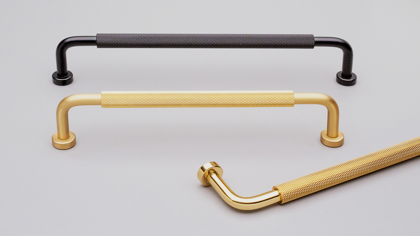 BH169 BUGLE HANDLE Knurled Brass Handle : Kethy