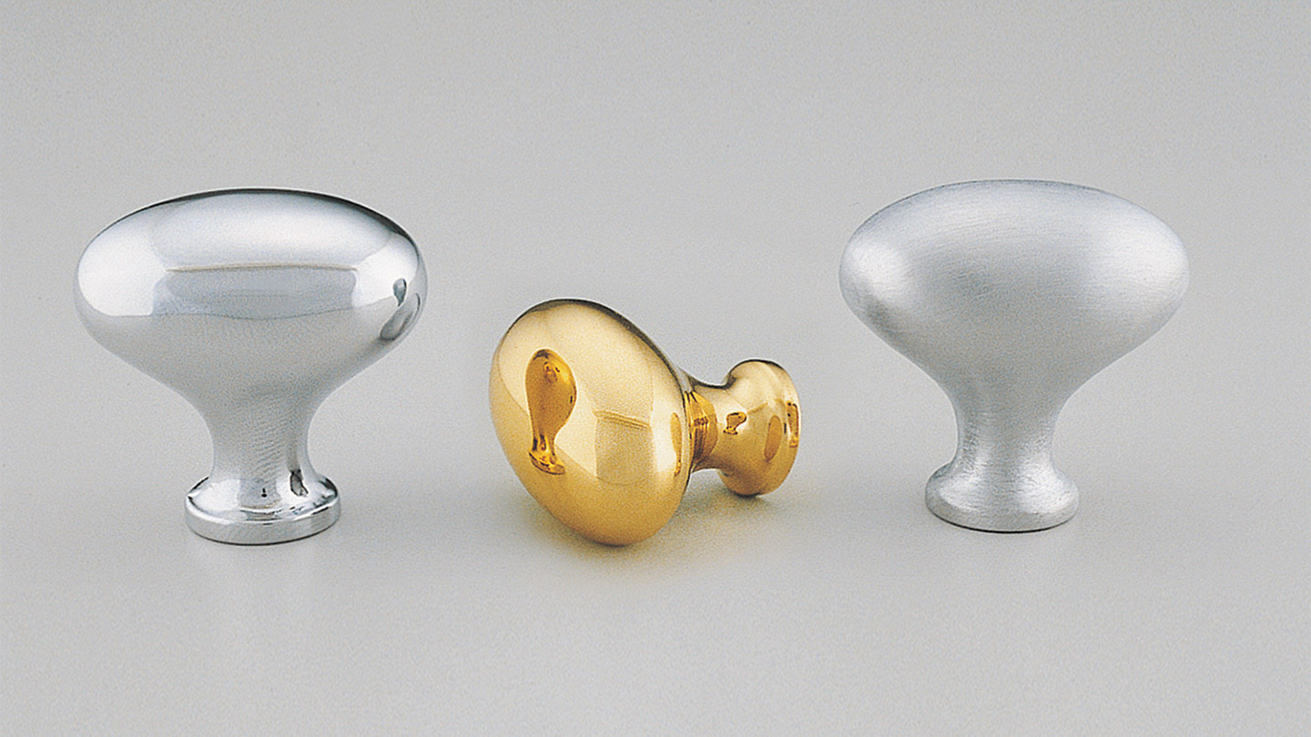 BK37_EGG EGG oval knob full rounded top : Kethy