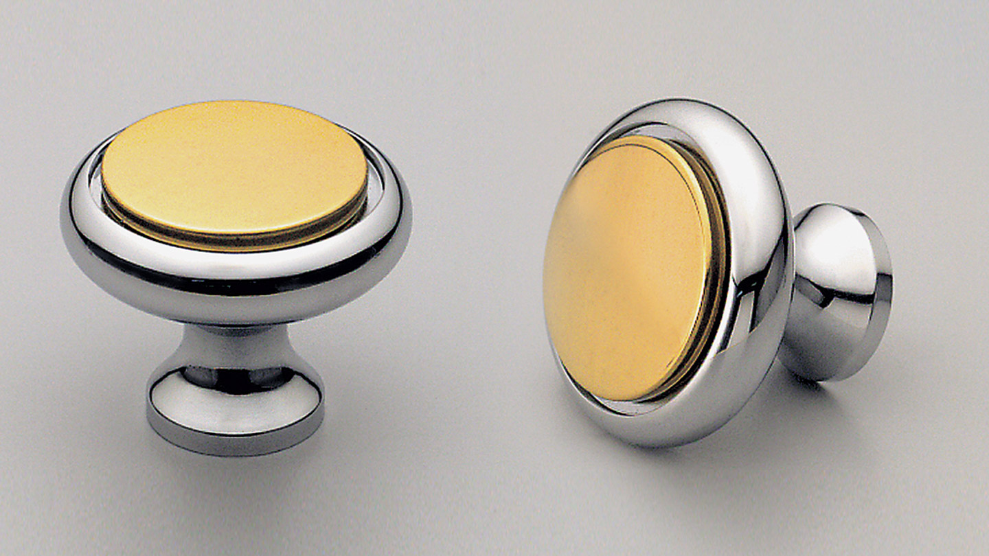 BK6332 TWO-TONE round knob raised flat top : Kethy