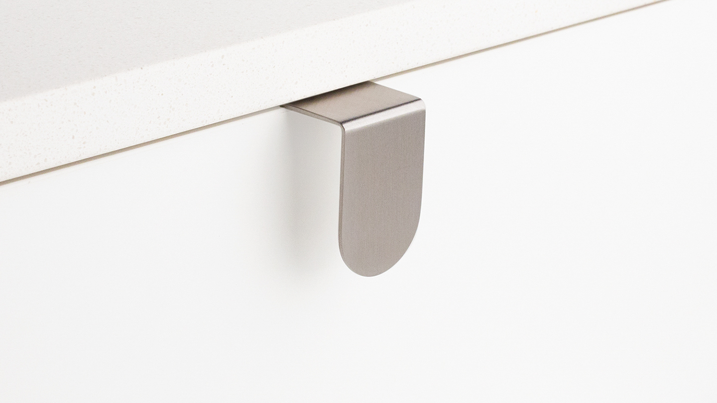 DL380 narrow edge pull / lip pull for Kitchen handles, cabinet handles, cabinet hardware, kitchen cabinet handle, vanity handle, furniture handle, kitchen hardware, cupboard handles.