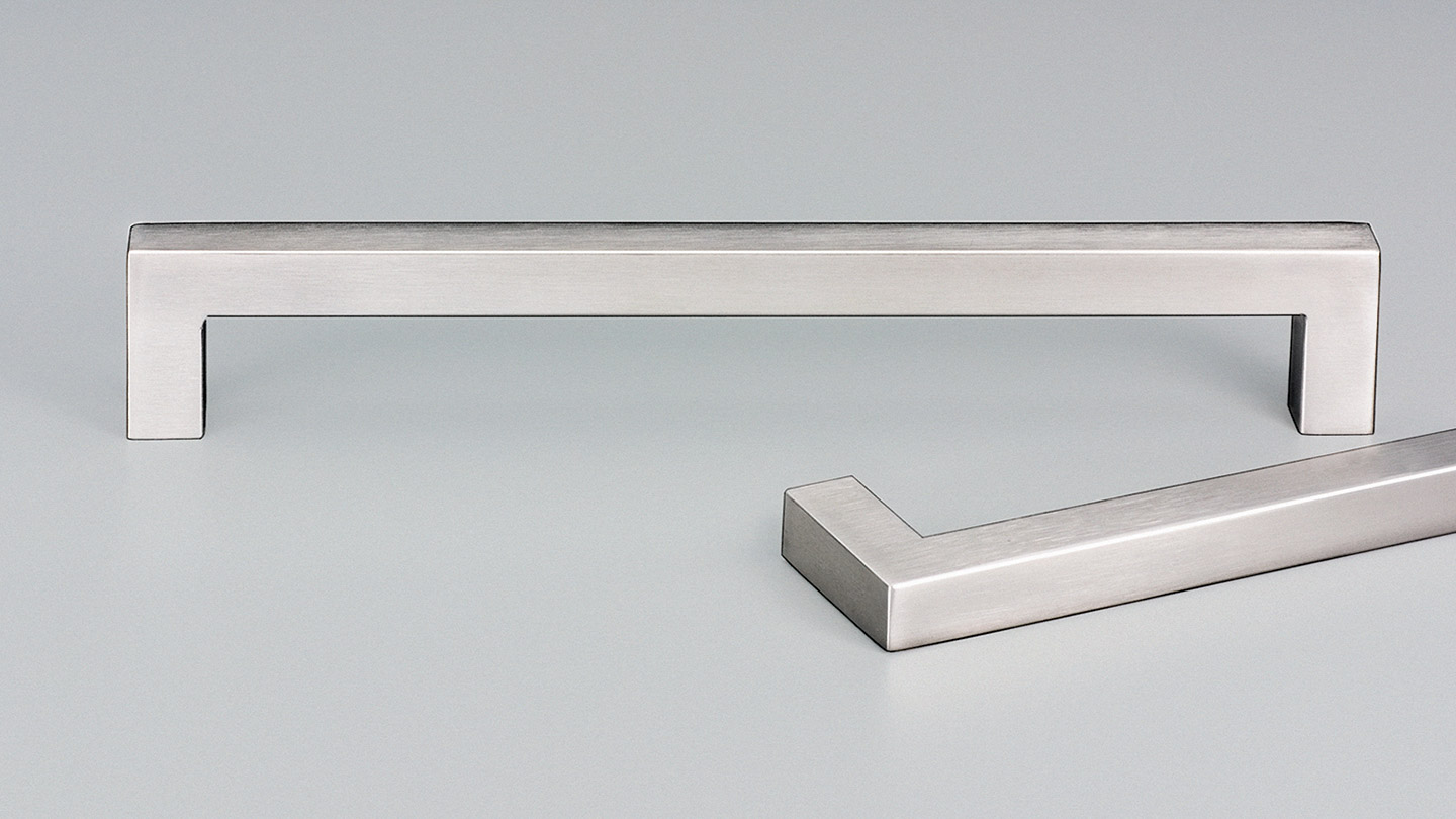 E2118 stainless D handle 12.7mm square section for Kitchen handles, cabinet handles, cabinet hardware, kitchen cabinet handle, vanity handle, furniture handle, kitchen hardware, cupboard handles.