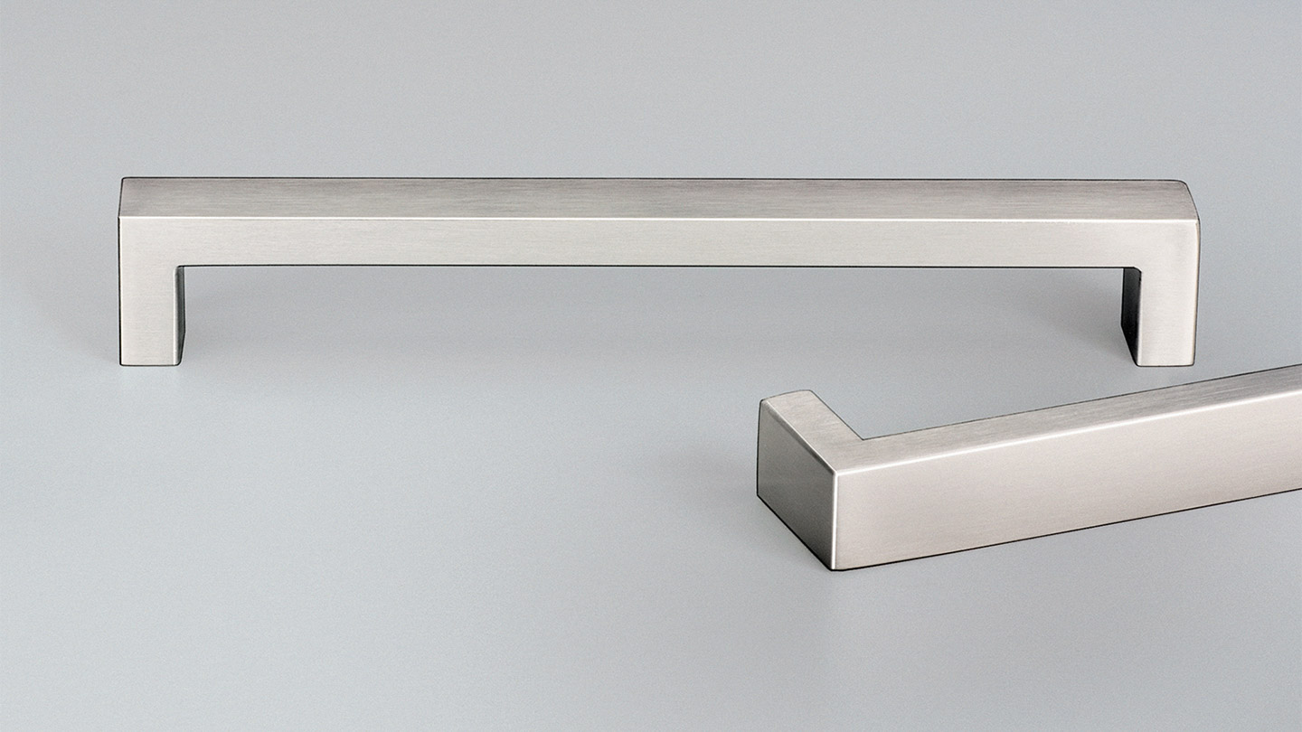 E2119 PESARO stainless D handle 20mm rectangular section  : Kethy