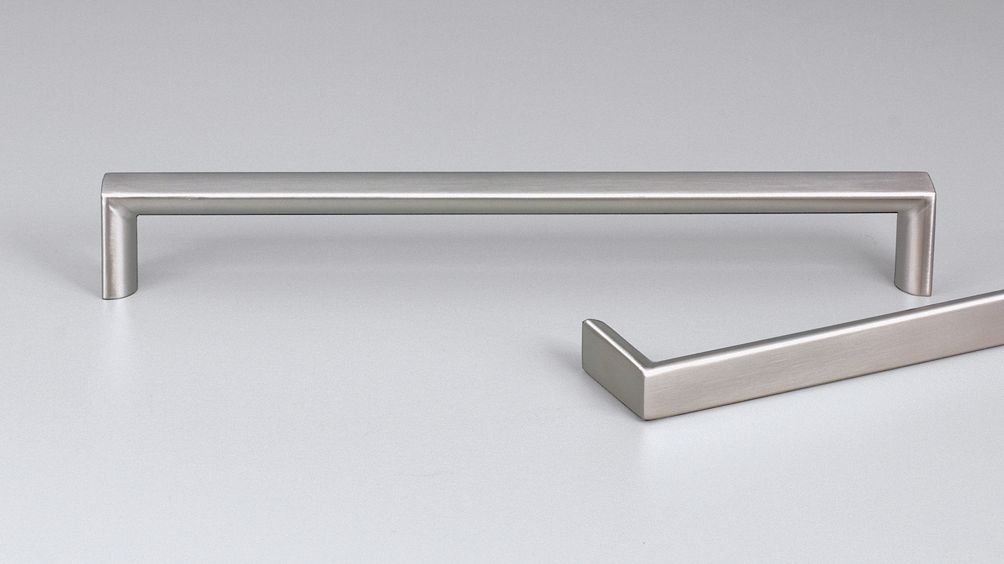 E2122 stainless D handle 14mm half-round section for Kitchen handles, cabinet handles, cabinet hardware, kitchen cabinet handle, vanity handle, furniture handle, kitchen hardware, cupboard handles.