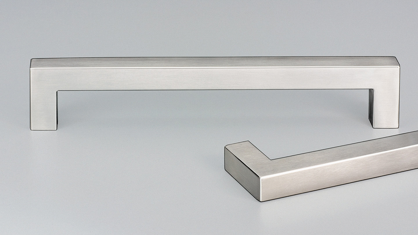 E5030 stainless D handle 15mm square section for Kitchen handles, cabinet handles, cabinet hardware, kitchen cabinet handle, vanity handle, furniture handle, kitchen hardware, cupboard handles.