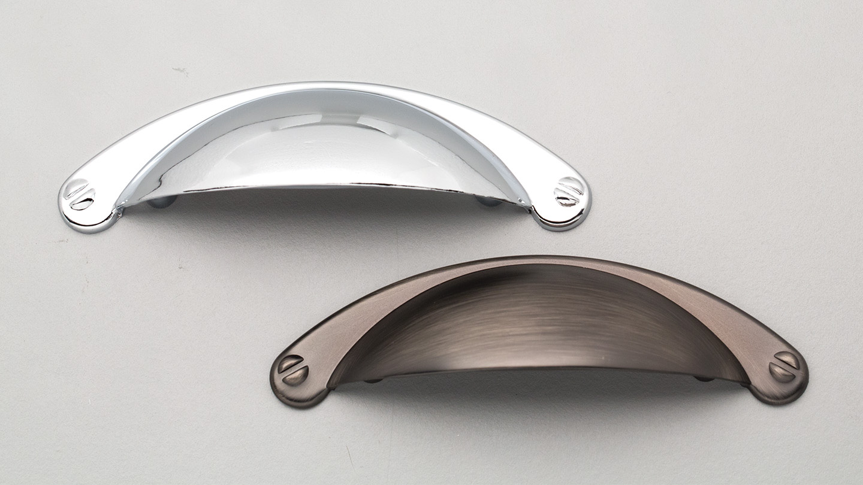 HT509 EASTPORT Hampton / Shaker slim shell handle tapered flange : Kethy