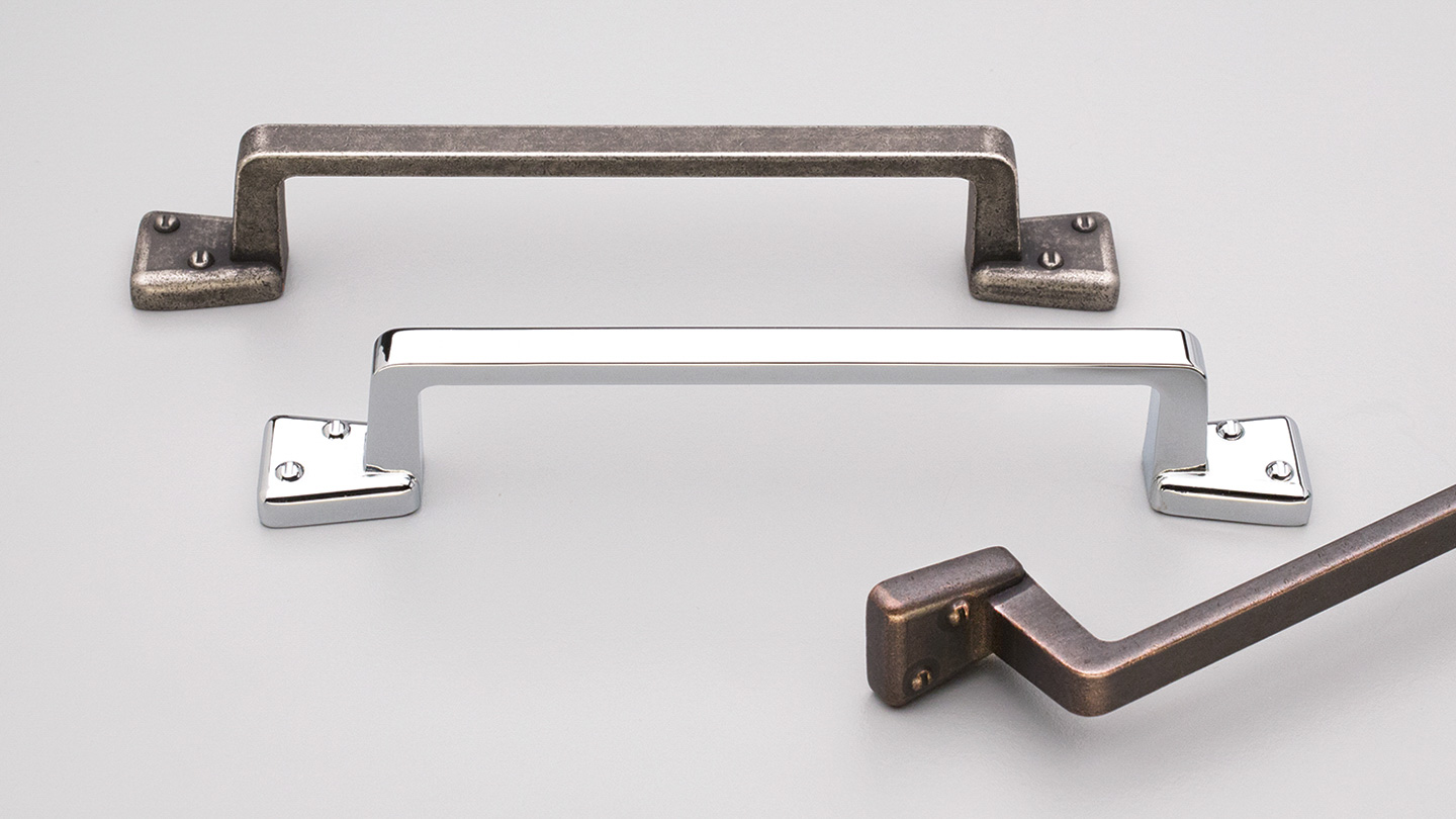 HT570 Hampton / Shaker square D handle for kitchen,bathroom,bedroom,furniture colours Antique Pewter (AP),Rustic Brass (RB),Rustic Copper (RC),Polished Chrome (PC) mm, size overall 172 mm hole centre distance 128 mm