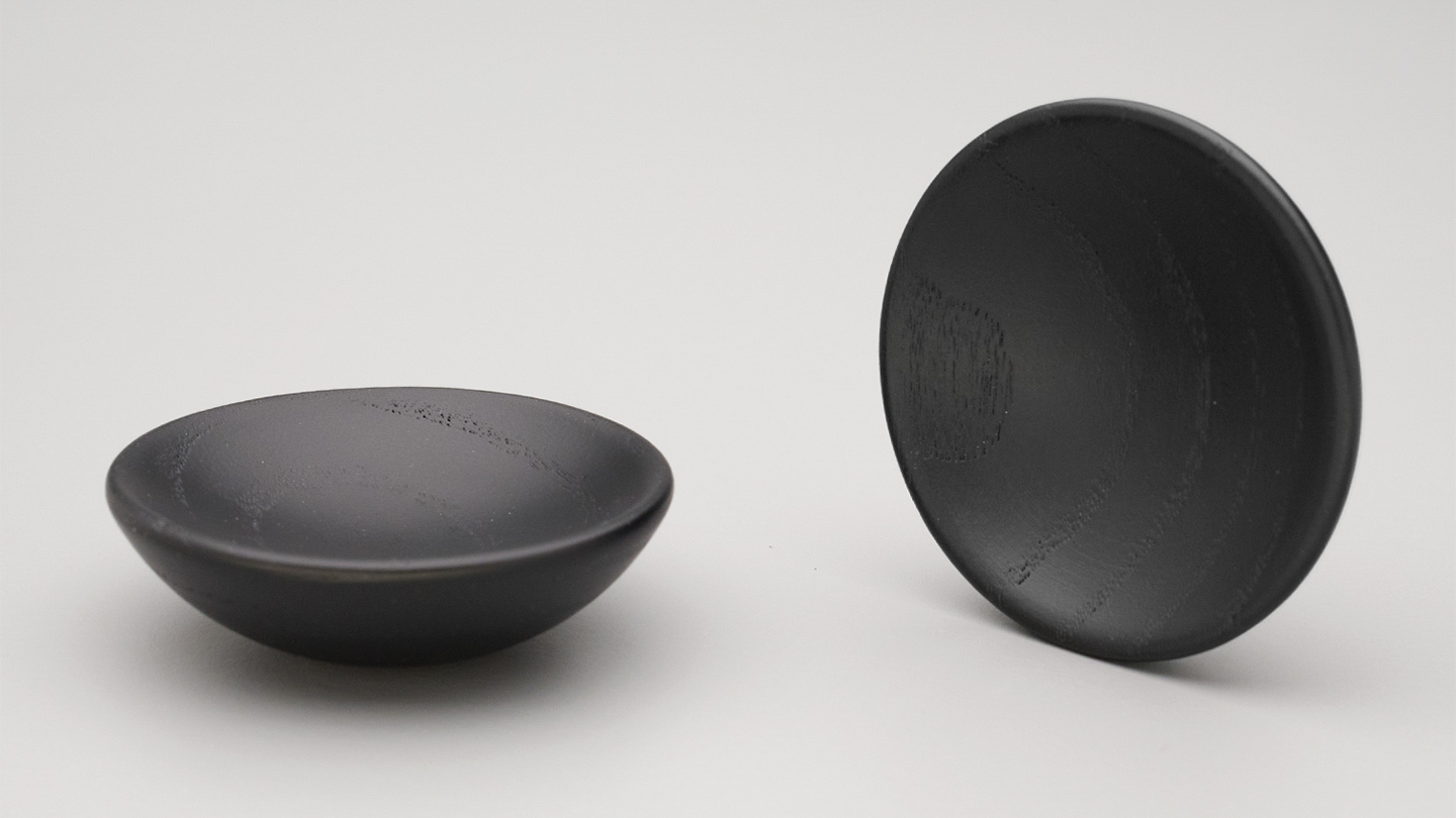 Bowl Knob 65mm dia Black Stain