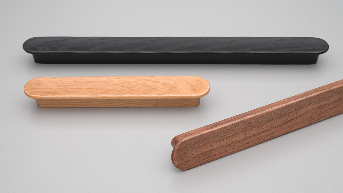 L6898 timber handle 28mm WIDE for Kitchen handle, cabinet handle, bathroom handle, kitchen hardware. colours Matt Black (MBK),Oak (OAK),Walnut (WN) mm,