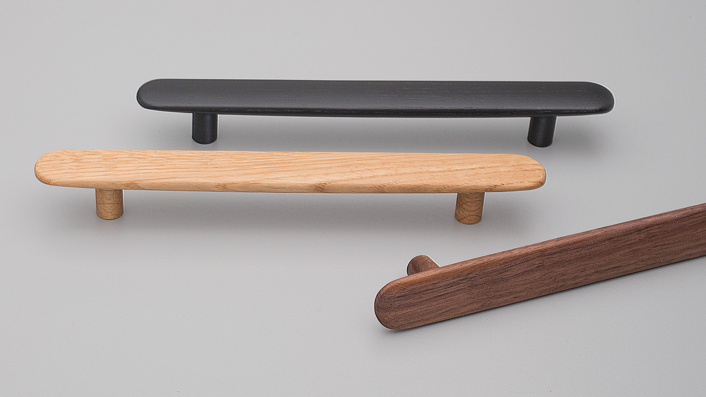 L7866 timber handle 24mm WIDE for Kitchen handle, cabinet handle, bathroom handle, kitchen hardware. colours Matt Black (MBK),Oak (OAK),Walnut (WN) mm,