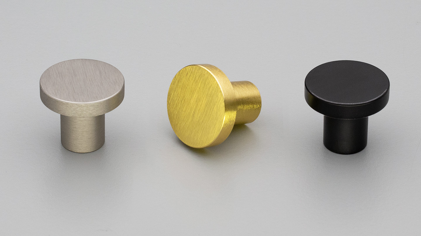 S223 Knob  for Kitchen handles, kitchen cabinet handles, vanity handles, bathroom handles, kitchen cupboard handle, kitchen hardware, matt black handles, cabinet hardware
