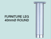 LEG FL675 40MM ROUND aluminium 40mm round section custom lengths for kitchen,bathroom,bedroom,furniture colours Matt Anodised Leg with Silver Anodised Foot (Mat) mm, size overall 100,200,300,400,500,600,700,800,900,1000,1100,1200, and more mm hole centre distance 0,0,0,0,0,0,0,0,0,0,0,0, and more mm